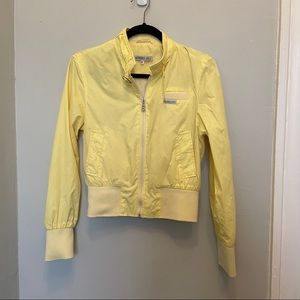 Members Only Yellow Retro Jacket Size M